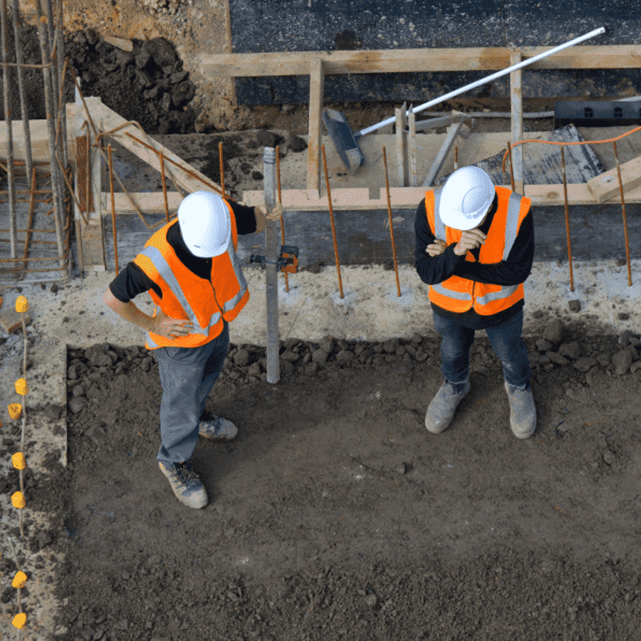 Safety Officers at UK Civil Engineering Site